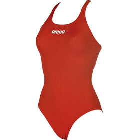 arena Solid Swim Pro One Piece Swimsuit Dame red-white